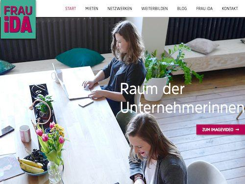 Ansicht Startseite Website